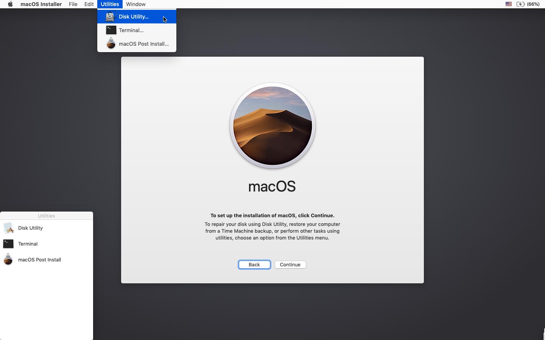 Установка macOS Mojave на неподдерживаемые компьютеры Mac