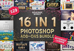 16 in 1 Photoshop Add-ons Bundle